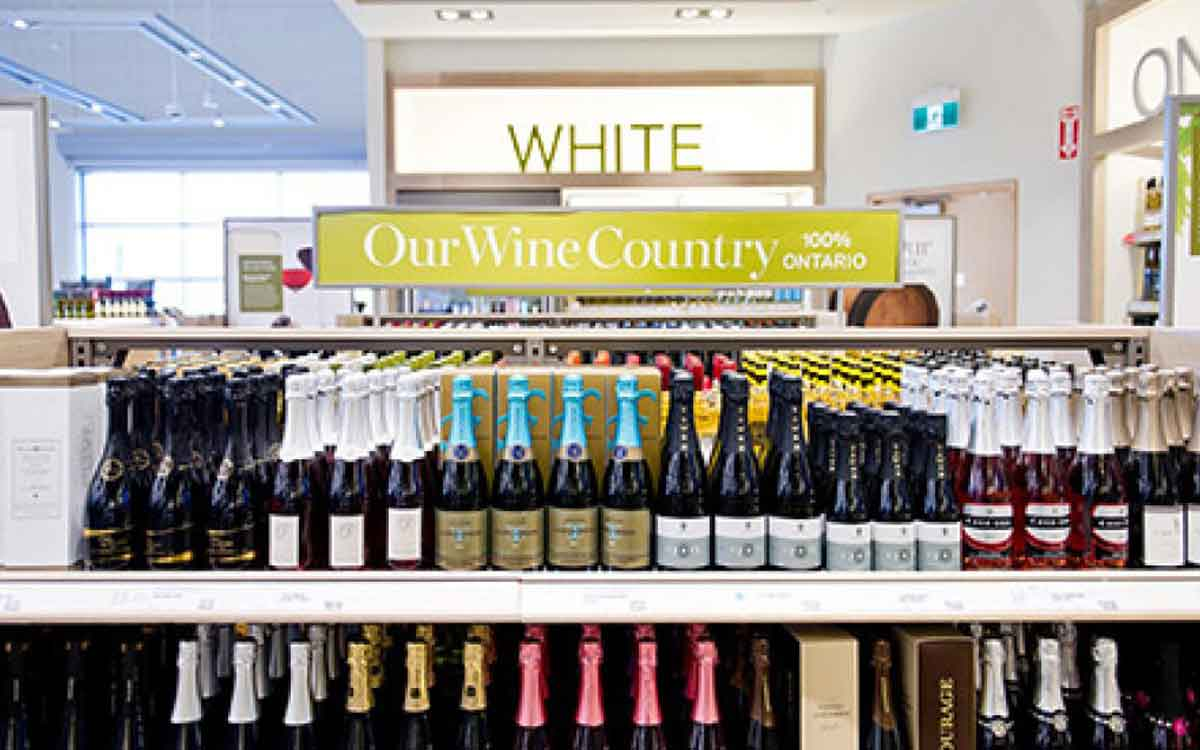 wine of the shelf at the LCBO