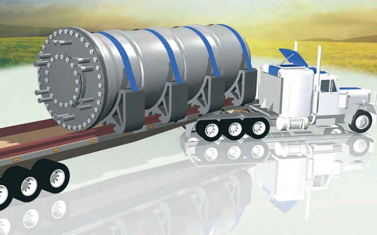 illustration showcasing a small modular nuclear reactor