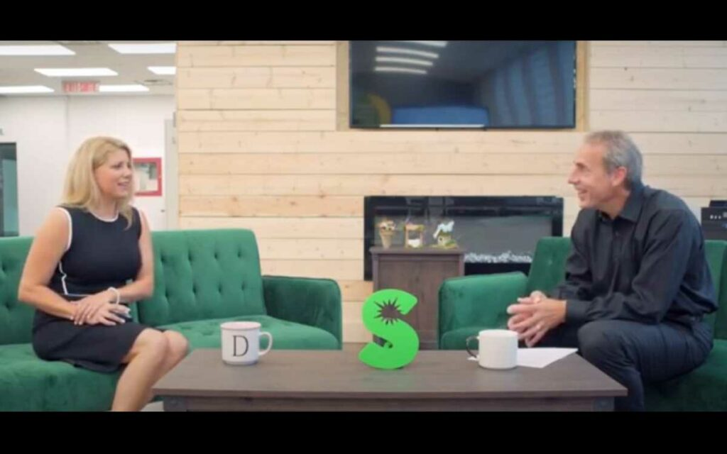 Sheila DeLuca, host of The Atrium, interviews Victor Pietrangelo