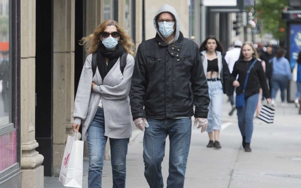 couple wearing masks