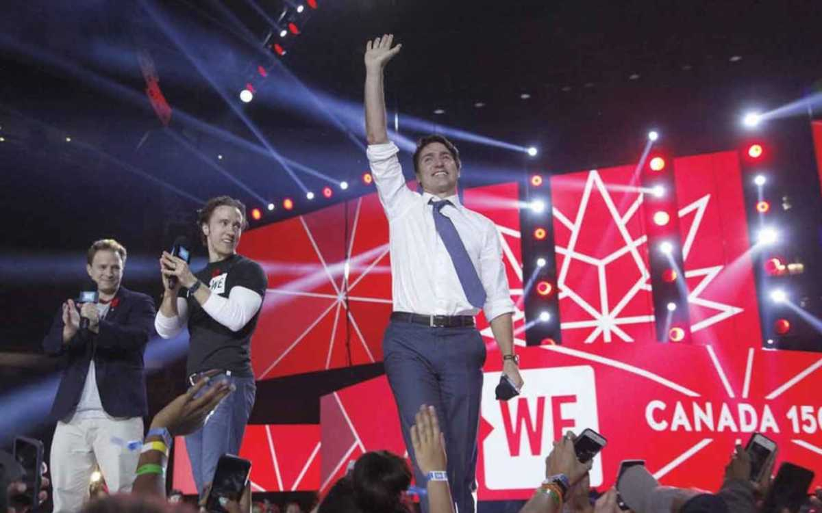 PM Trudeau on WE stage