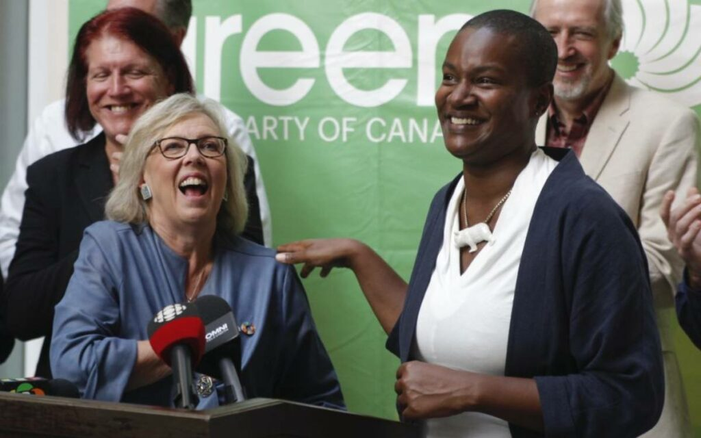 Elizabeth May and Annamie Paul