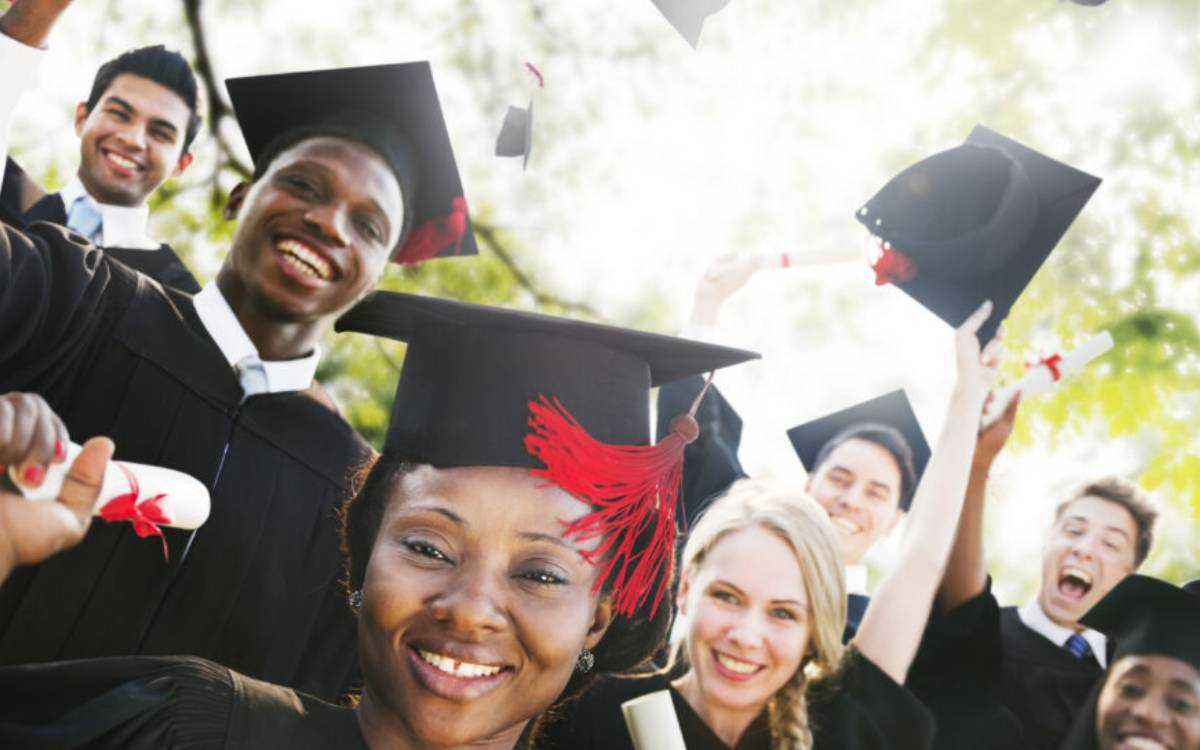 student graduation selfie