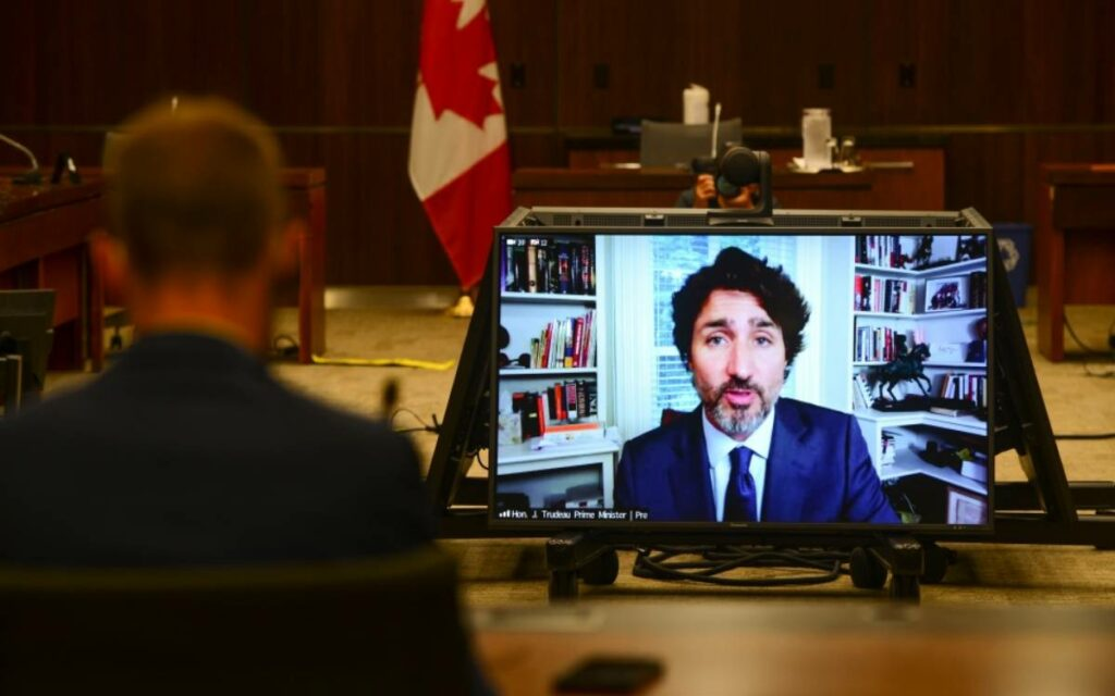 PM Trudeau testifying