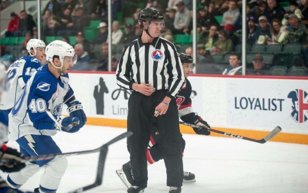 Matt Mannella  on the ice