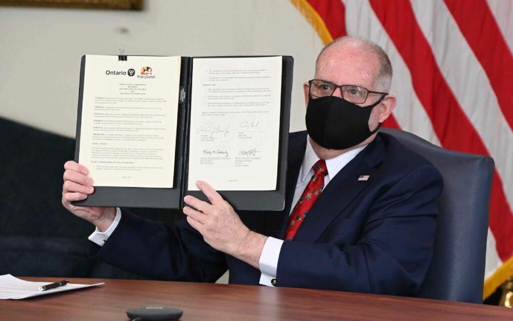 Governor of Maryland Larry Hogan