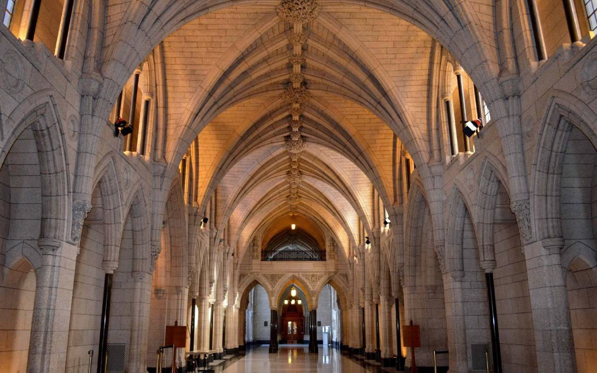 the halls of parliament hill