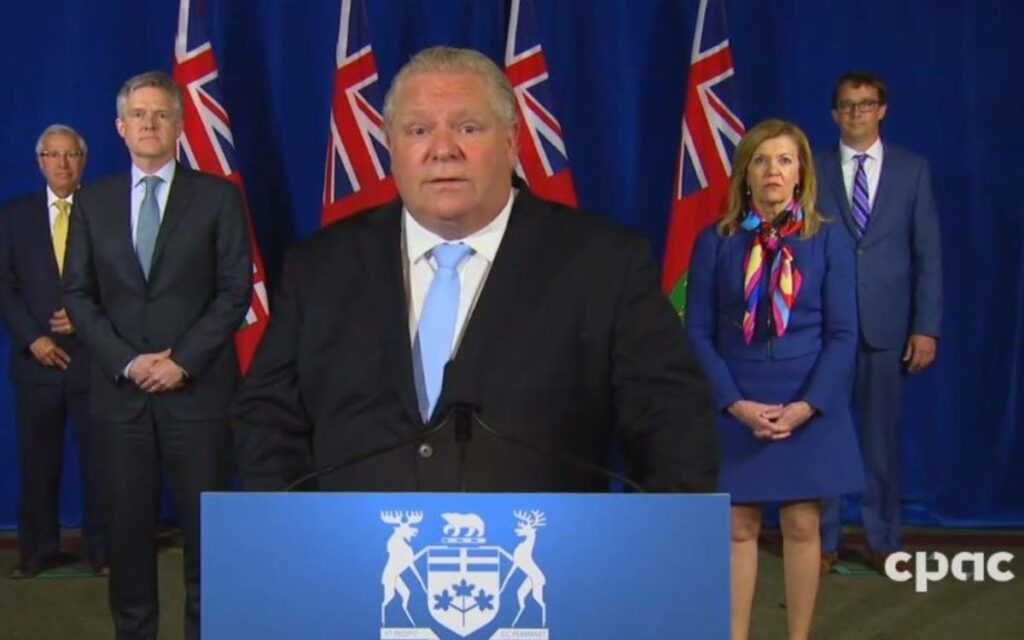 Premier Ford ans Ministers press conference