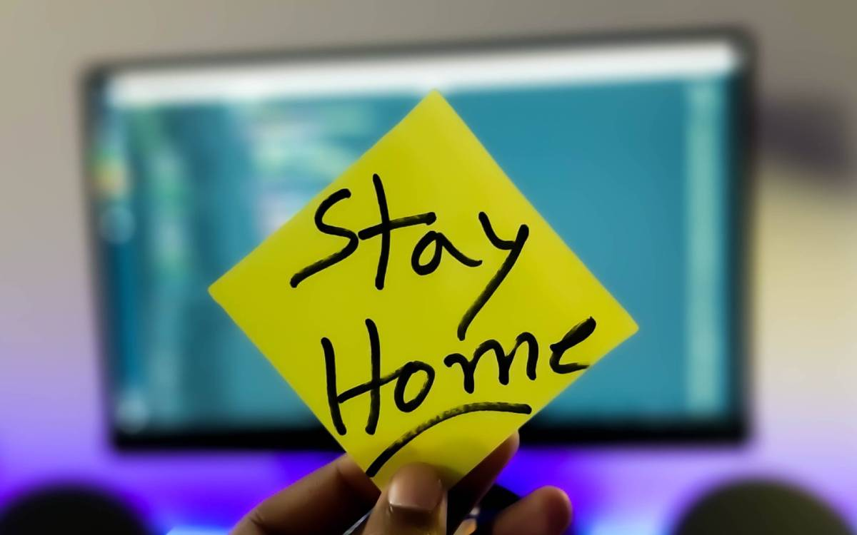 stay at home post it note