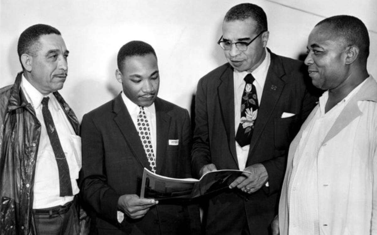 Russel Small, Rev. Martin Luther King, Rev. Theodore Boone, Walter Perry