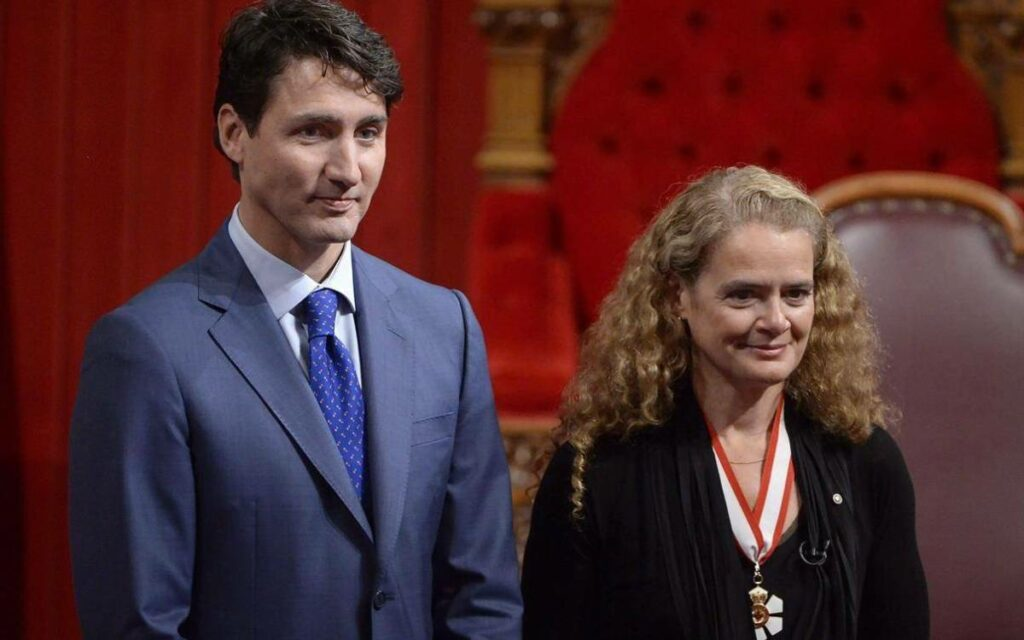 PM Trudeau and Julie Payette