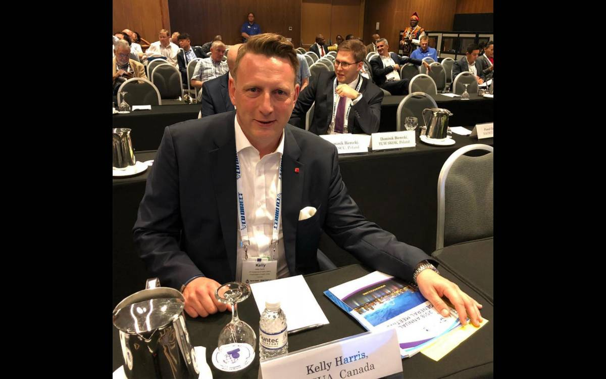 Kelly Harris at a conference