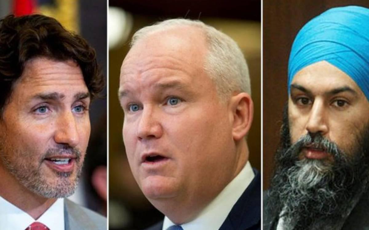 Trudeau, O'Toole, Singh
