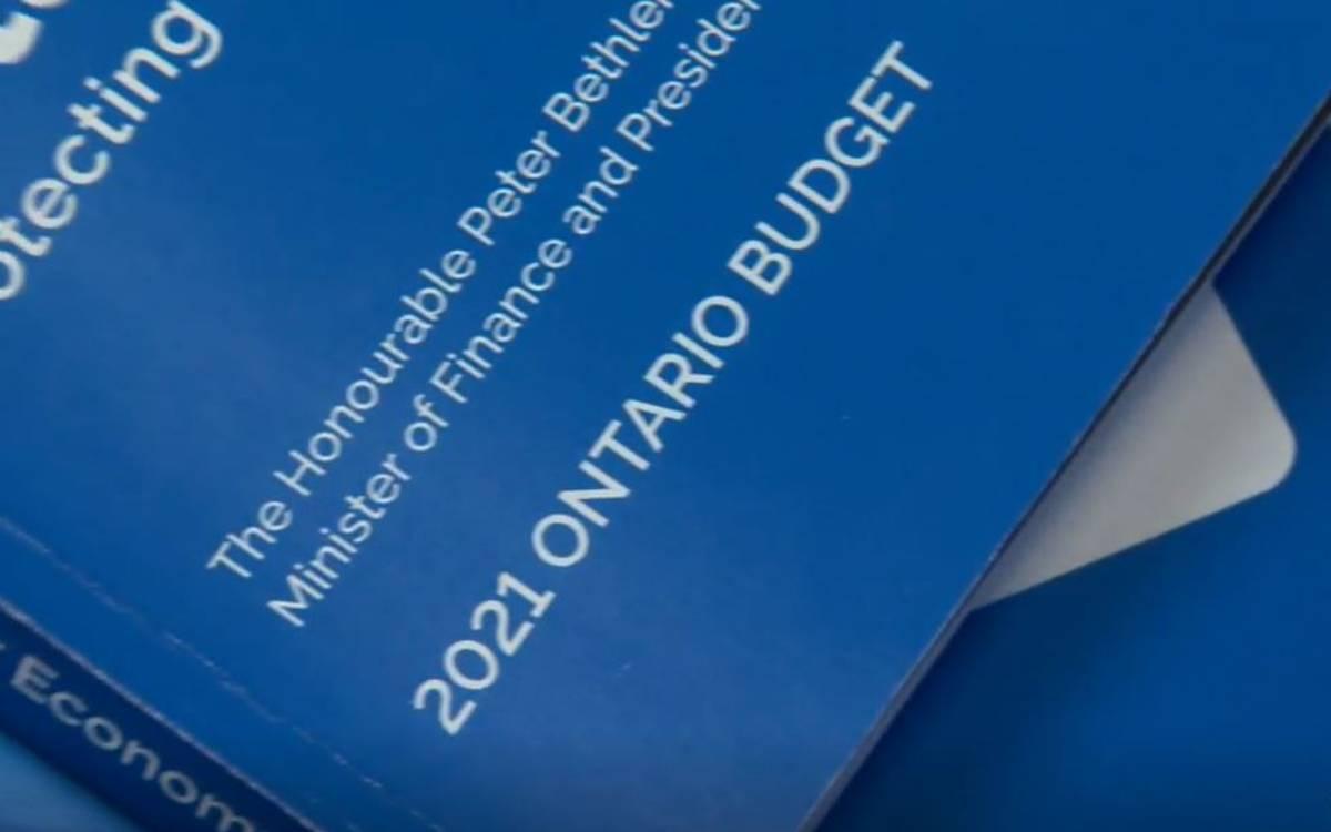 Ontario budget book
