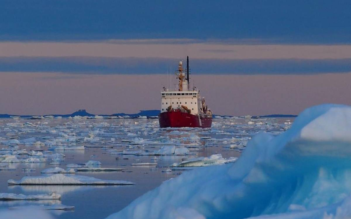 a ship in the Arctic