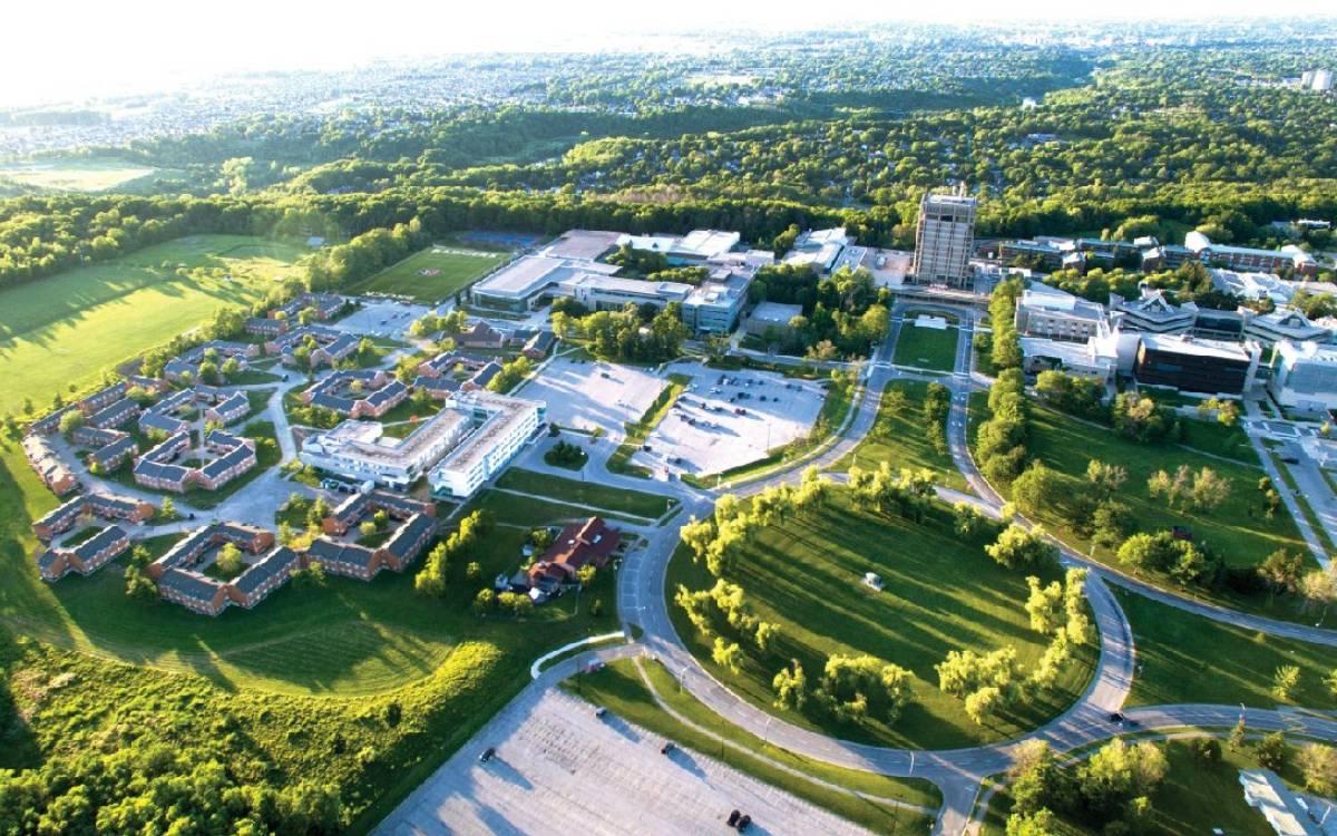 Brock University aerial shot