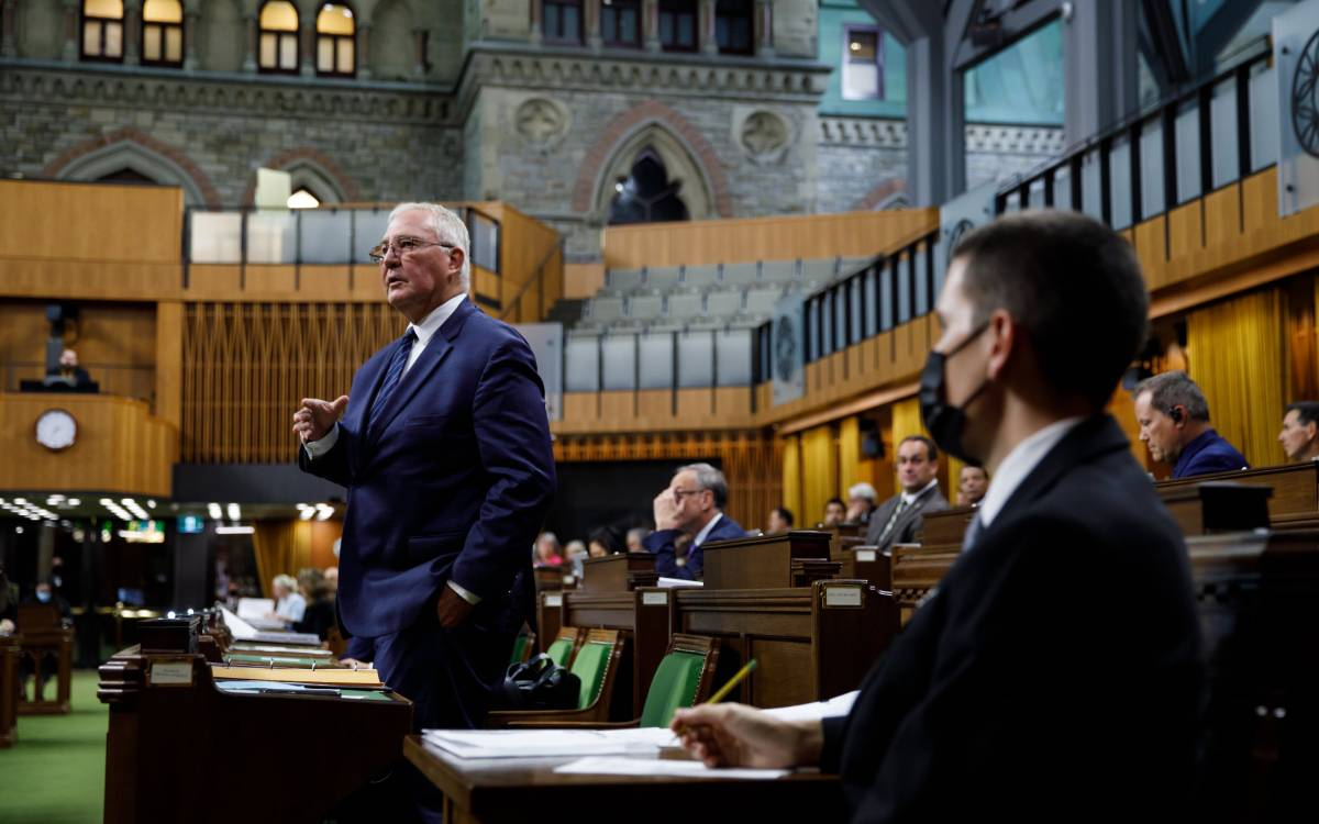 Minister Bill Blair in the house of commons