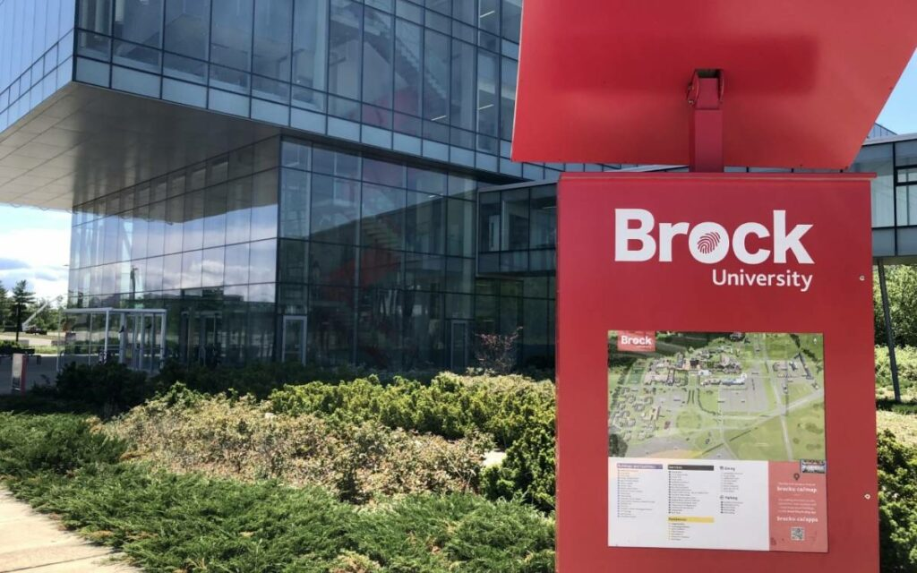 Brock University campus map
