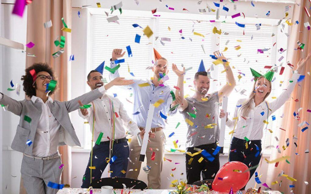 kids celebrating