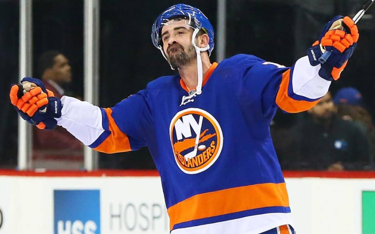Cal Clutterbuck on the ice