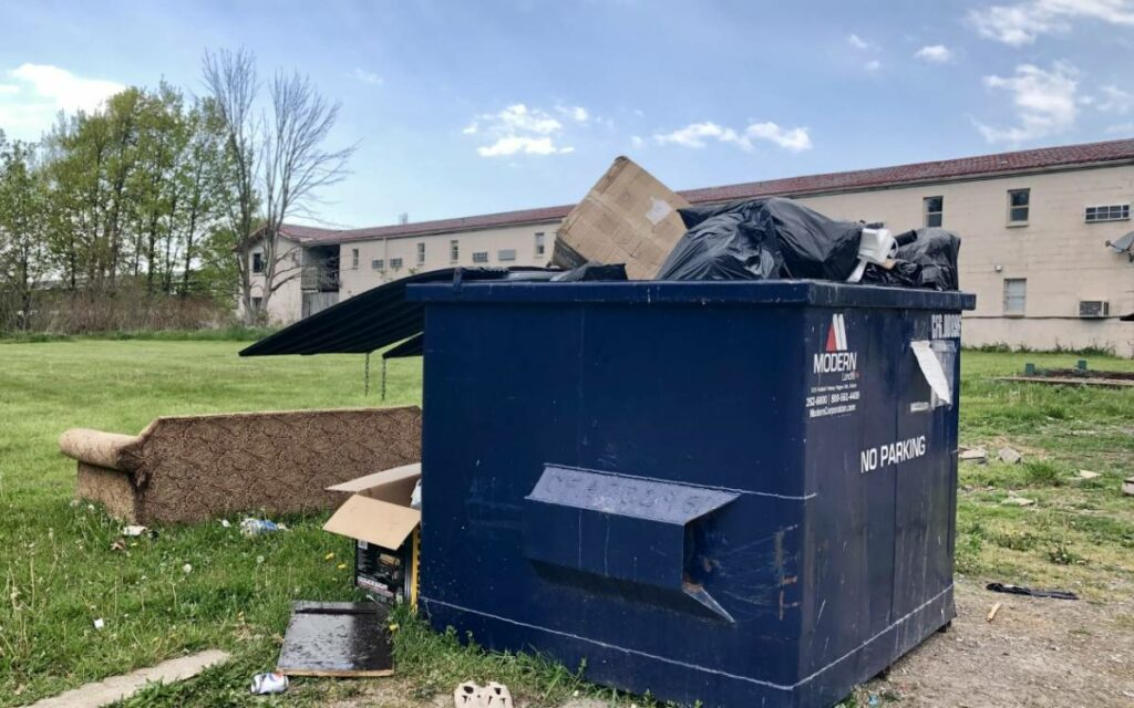 dumpster overflowing