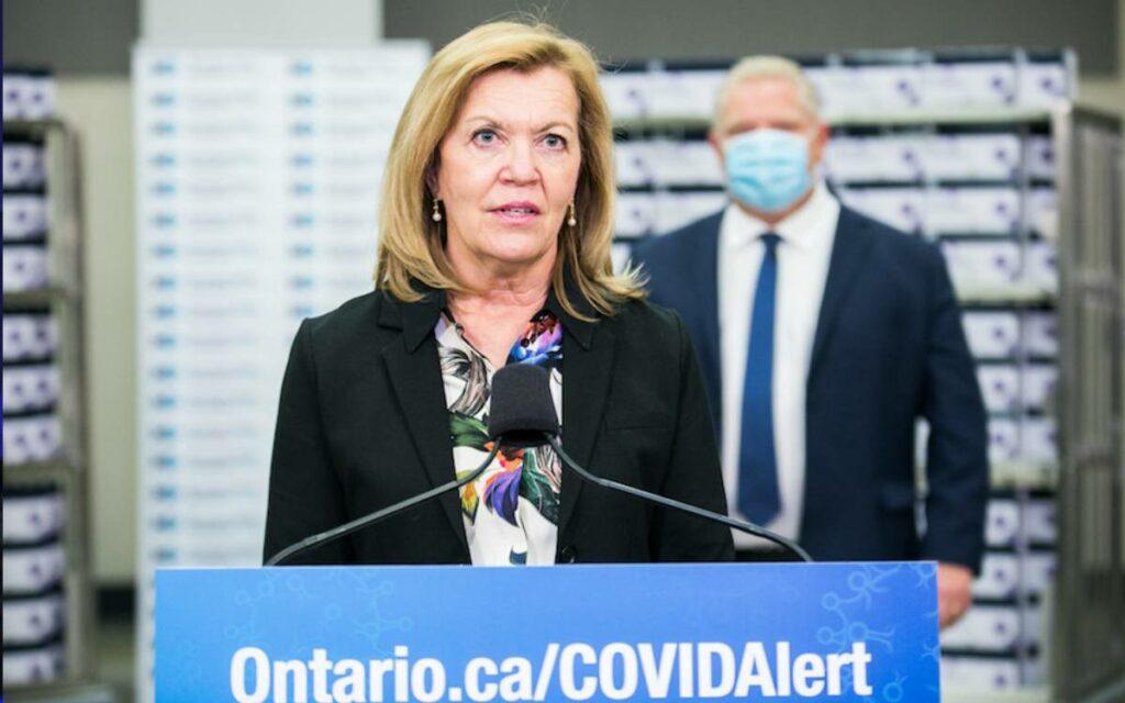 minister Elliott and Premier Ford