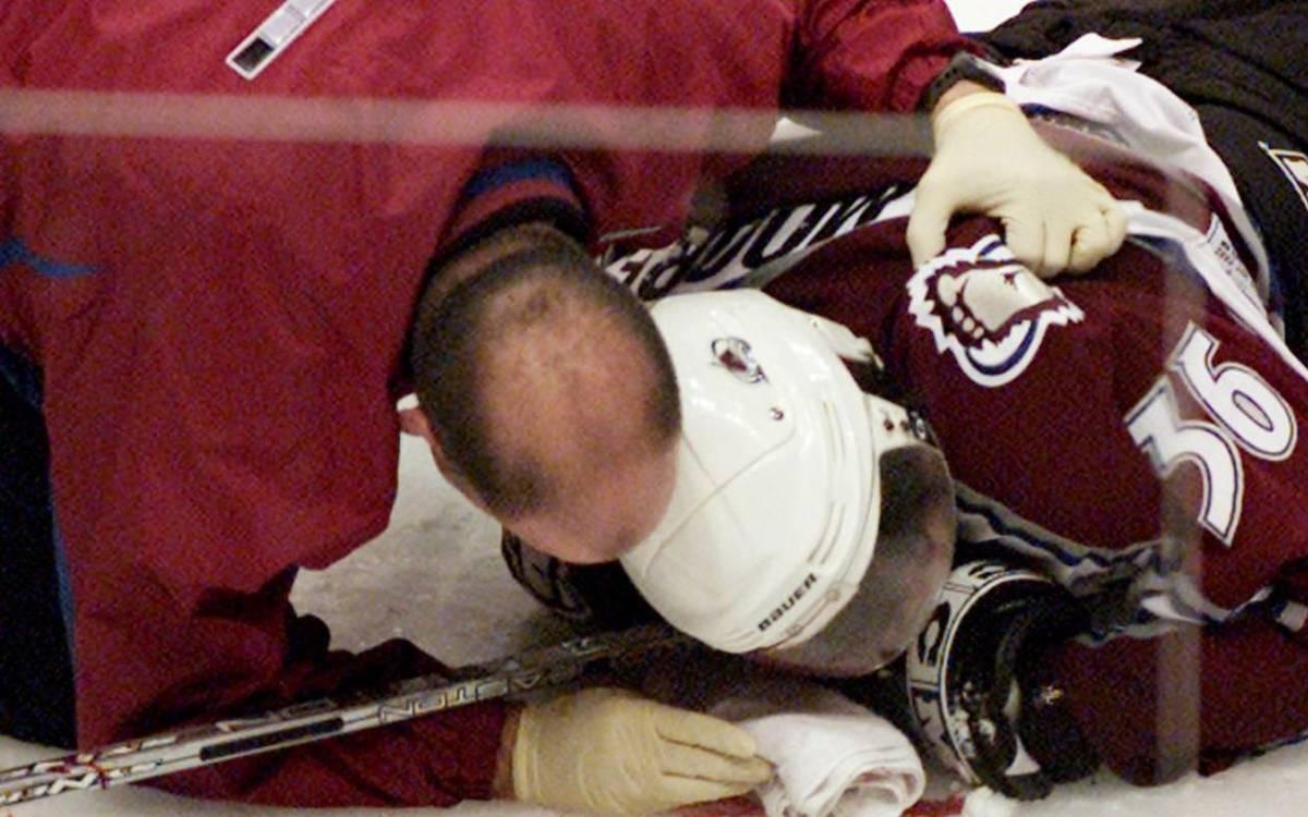 Steve Moore on the ice