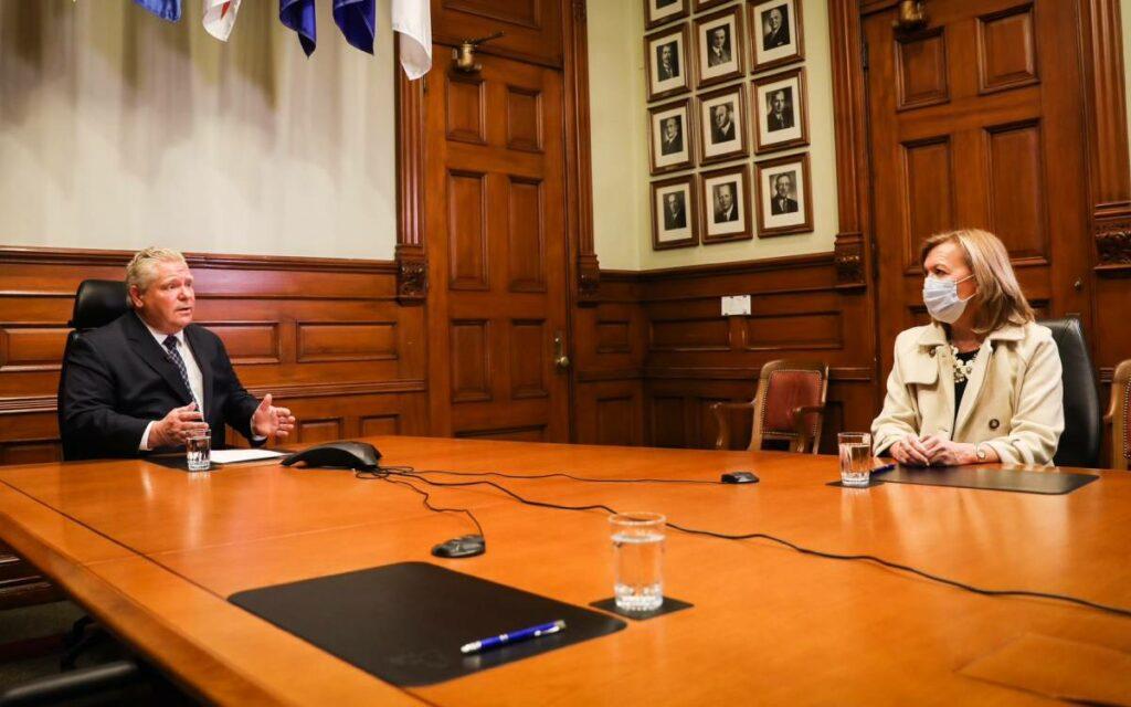 Premier Ford and Minister Elliott