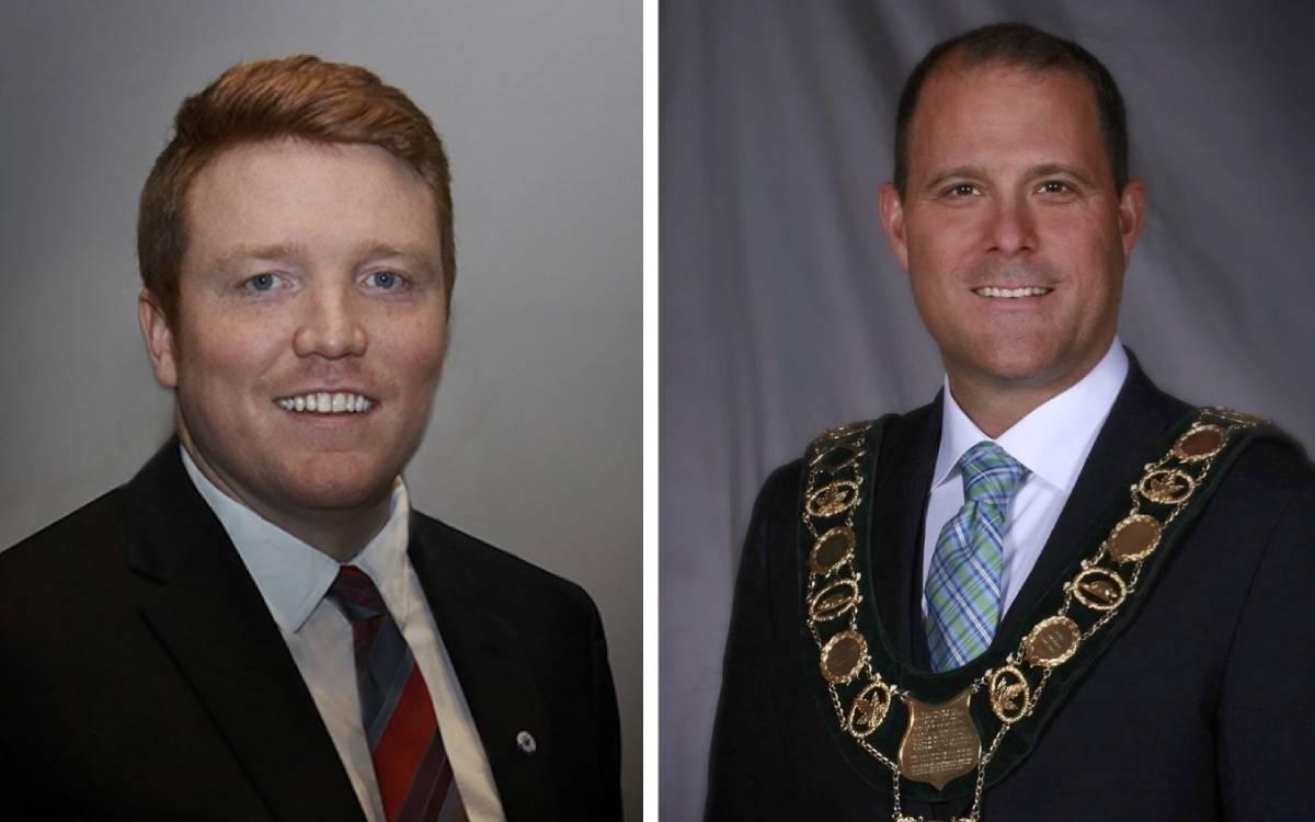 Councillor Miller and Mayor Sendzik