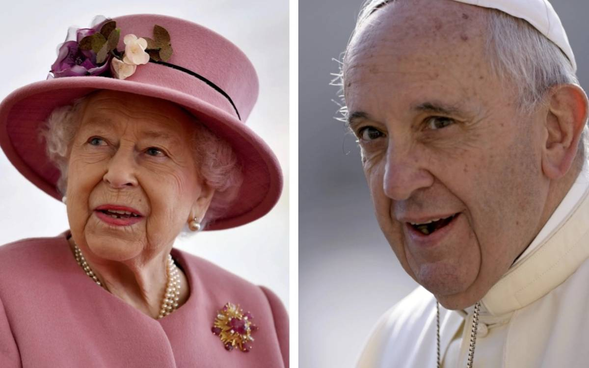 Majesty Queen Elizabeth II and Pope Francis