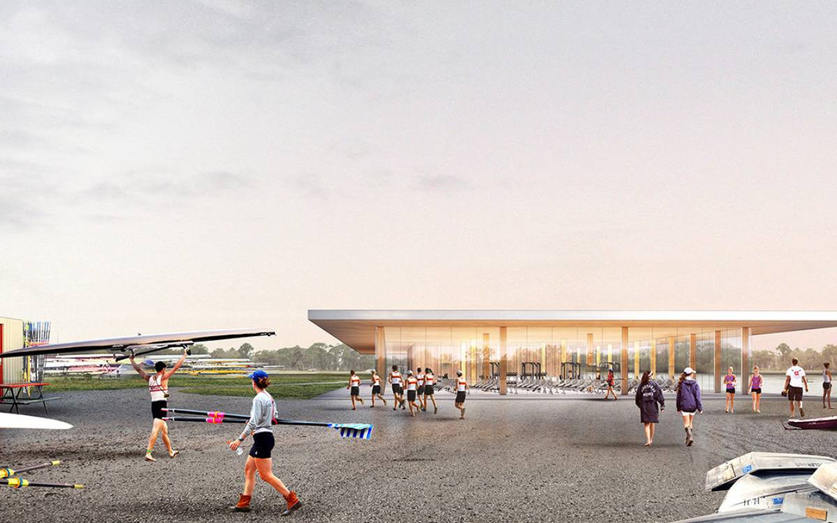 rendering of rowing facility