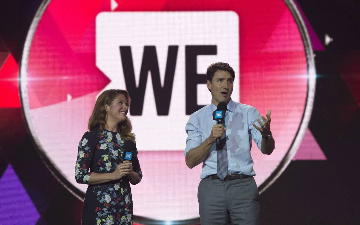 Trudeaus' at a WE event