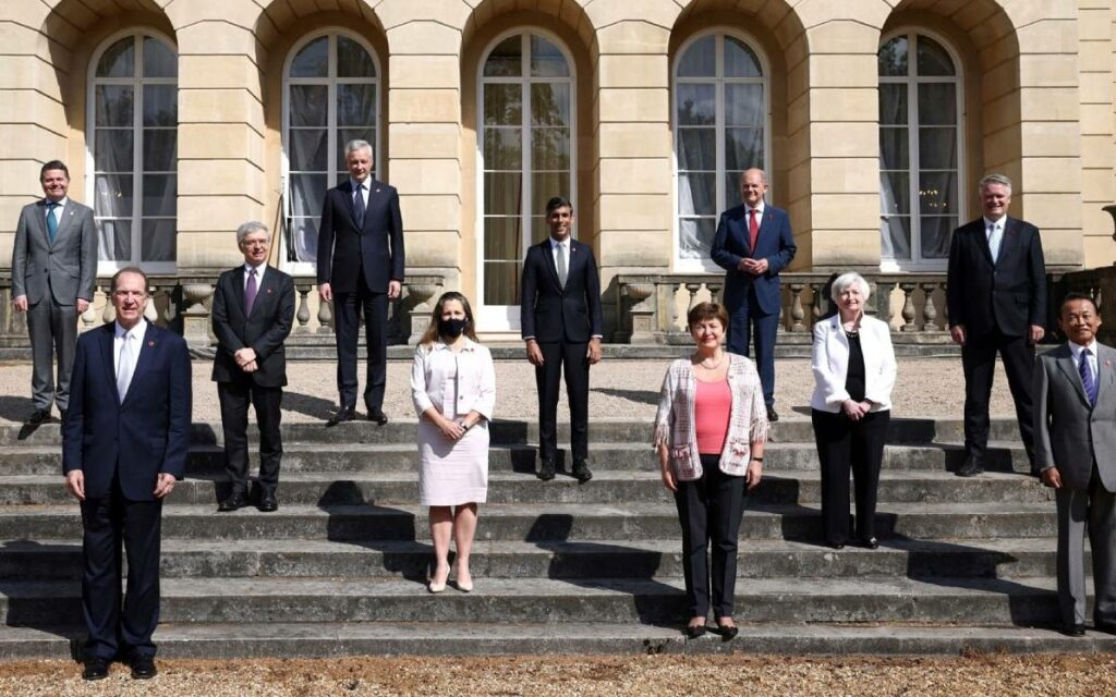 Finance ministers at g7
