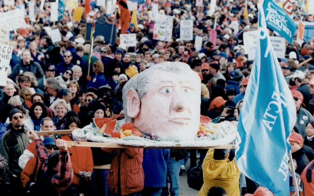 mike harris demonstration 1997