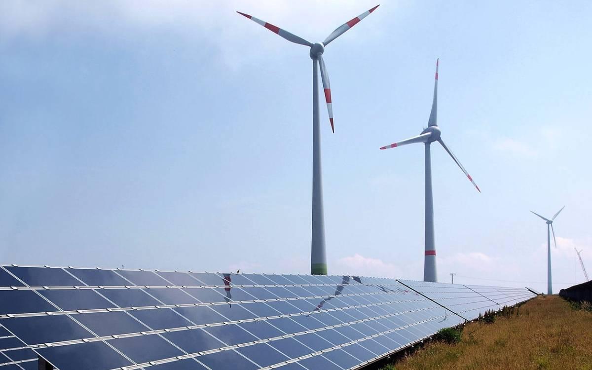 turbines and solar panels