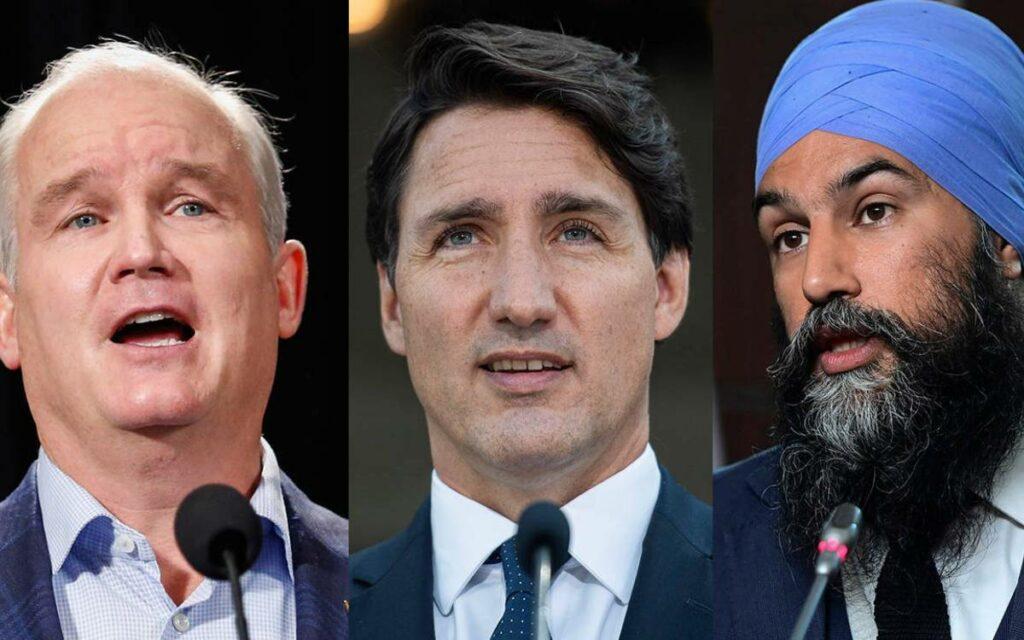O'Toole, Trudeau and Singh