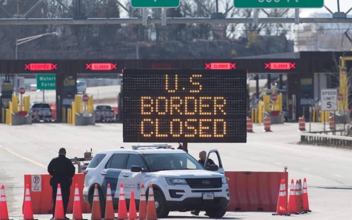 U.S. border closed